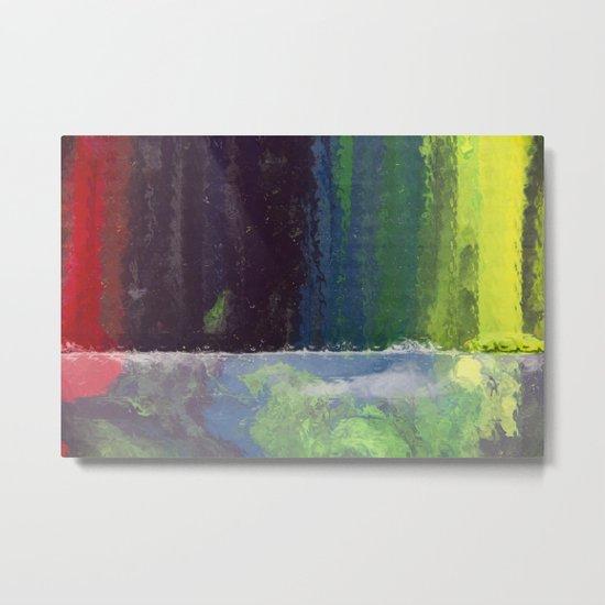 CRAYON LOVE: Rainbow Falls Metal Print