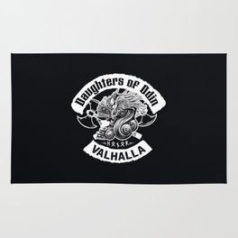 Daughters of Odin viking women - Sons of Odin parody Viking Norse Mythology for Shield Maiden Valkyr Rug