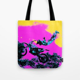 Letting Go - Freestyle Motocross Stunt Tote Bag