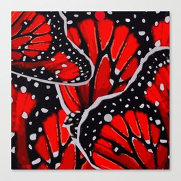 red monarch Canvas Print
