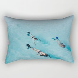 swimming in ocean Rectangular Pillow