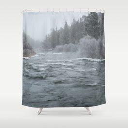 Winter On The Deschutes River Shower Curtain