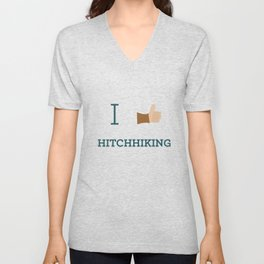 I heart Hitchhiking Unisex V-Neck