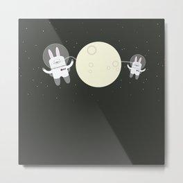 Astro Bunnies Metal Print