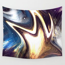 returning to the cosmos | Abstract Painting Wall Tapestry