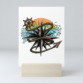 Nautical Splash Mini Art Print