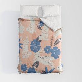 Bunnies & Blooms - Blue & Blush Palette Comforters
