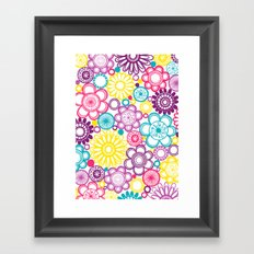 BOLD & BEAUTIFUL blooms Framed Art Print