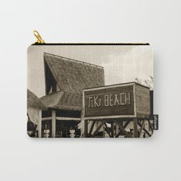 Travel Photography : Tiki Beach in Cayman Islands Carry-All Pouch