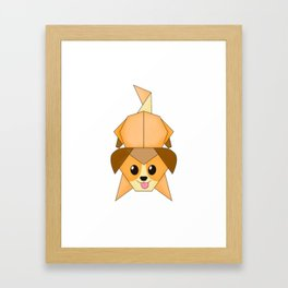 Chibi Origami puppy Framed Art Print