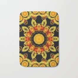 Red and Gold Brooch Bath Mat