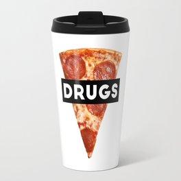 Drugs = Pizza Travel Mug