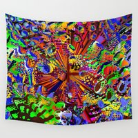 seashell Wall Tapestries featuring offshore seashell by donphil