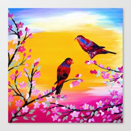 Lorikeets Canvas Print