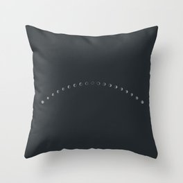 Phases // New Moon Throw Pillow