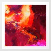 phoenix Art Prints featuring Phoenix by Wahndur