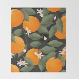 fresh citrus // dark Throw Blanket