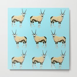 Desert Oryx Metal Print
