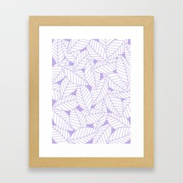 Leaves in Lavender Framed Art Print