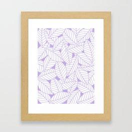 Leaves in Lavender Framed Art Print