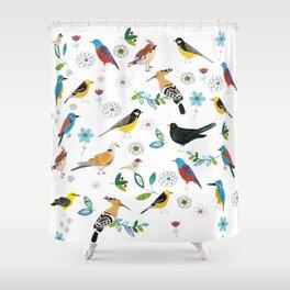 Polish birds Shower Curtain