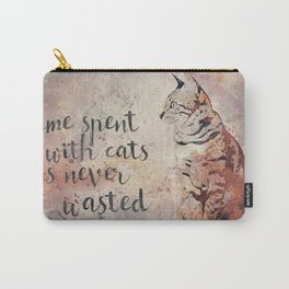 Time spent with cats is never wastet Carry-All Pouch