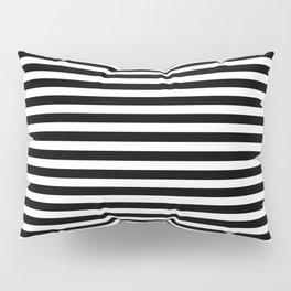 Striped Black and White Pillow Sham