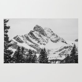 black and white like forest and snow Rug