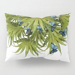 """El Bosco fantasy, tropical island blue butterflies 02"" Pillow Sham"