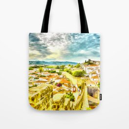 Obidos, small and authentic fortified town in Portugal Tote Bag