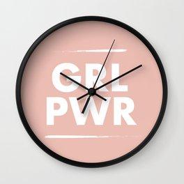 Girl Power / Pink Wall Clock