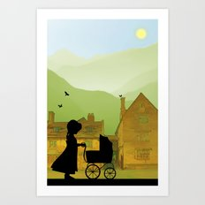 Childhood Dreams, The Pram Art Print