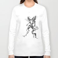 lovecraft Long Sleeve T-shirts featuring Lovecraft Series:  Mi- Go by Furry Turtle Creations