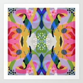 Tropical Toucan Pattern Art Print