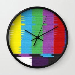 color tv bar#glitch#effect Wall Clock