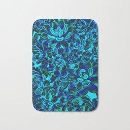Floral tribute [blue velvet] Bath Mat