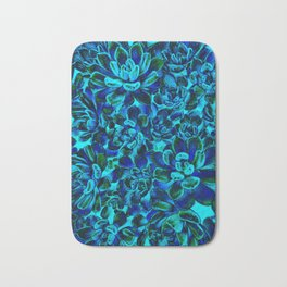 Floral tribute [blue velvet] Bath Mat