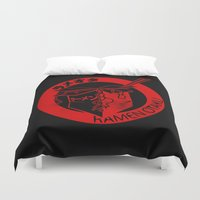 ramen Duvet Covers featuring This Is My Ramen Shirt (Messy) by Bouké