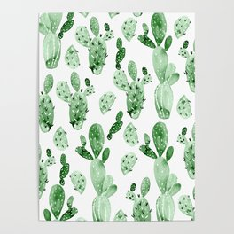 Green Cactus Field - Large Poster