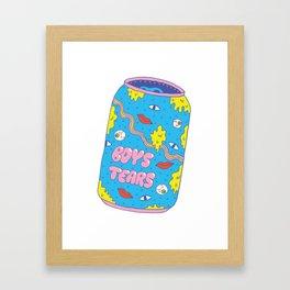 Boys Tears Framed Art Print