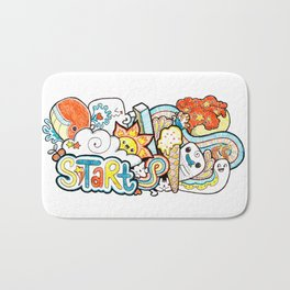 Kawaii Doodle - Just Start Bath Mat