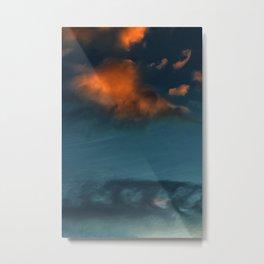 Clouds in Water (Color) Metal Print
