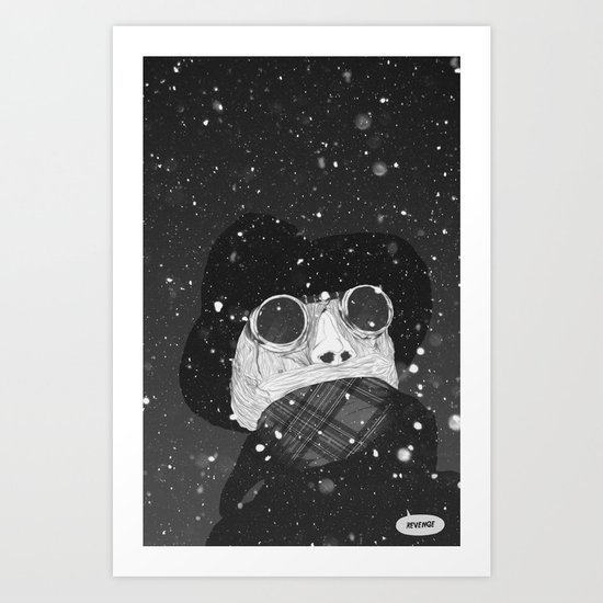 """Excuse me, sir. There's breathing in my barn"" Art Print"