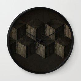 Wooden Cubes Wall Clock