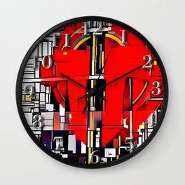 Cubism Elevator Pulley Wall Clock