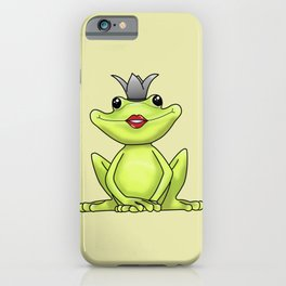 Kiss all the frogs iPhone Case