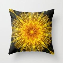 Golden Sun Disc Throw Pillow