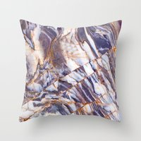 geology Throw Pillows featuring Marble by Patterns and Textures