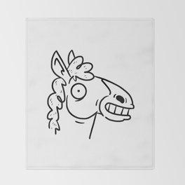 Mr Horse Throw Blanket