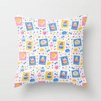 cupcakes Throw Pillows featuring Cupcakes by Hui_Yuan-Chang